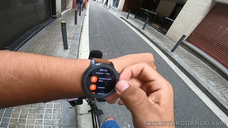 amzfit gtr bicicleta review español