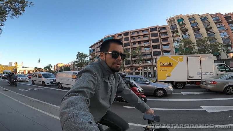 ciclista rodando gopro