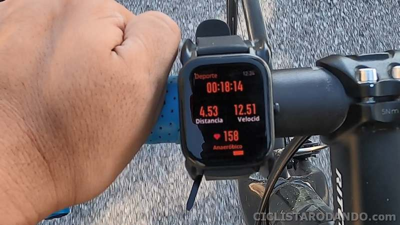 amazfit gts bicicleta