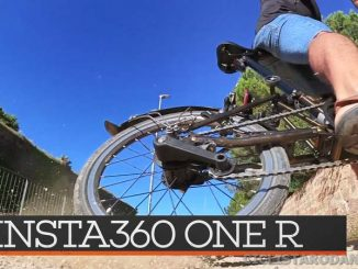 insta360 oner review bicicleta