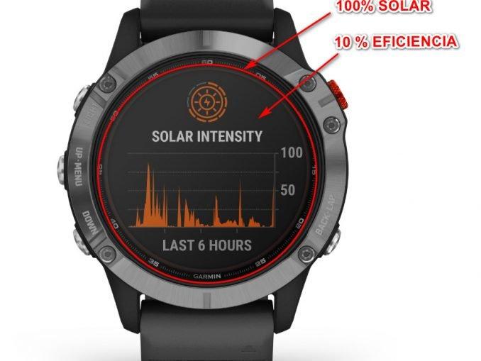 garmin solar eficiencia