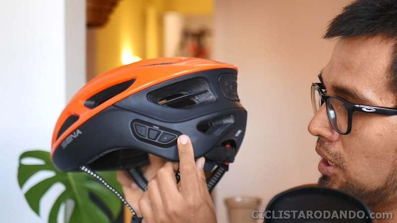 botones casco bluetooth sena