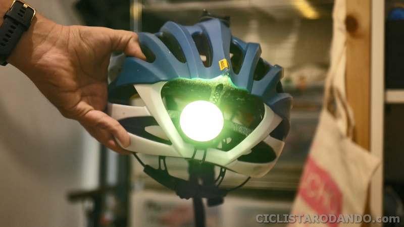 montaje casco luces bicicleta Shanred Raz Pro