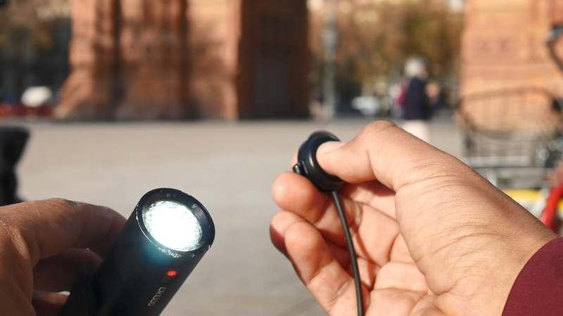 control remoto luz bicicleta