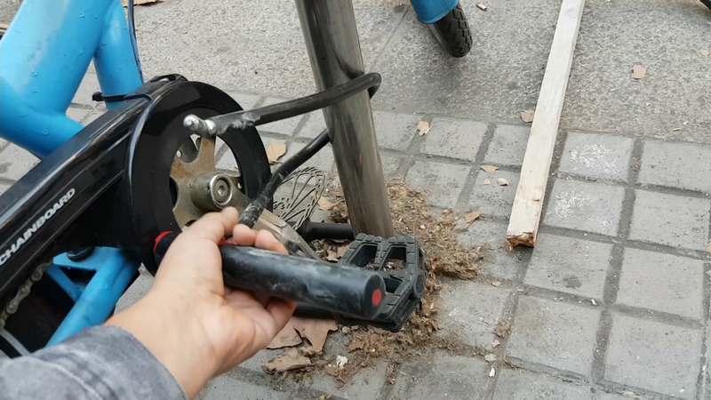candado robado bicicleta