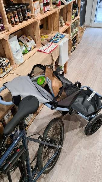 carrito de compra para bicicleta